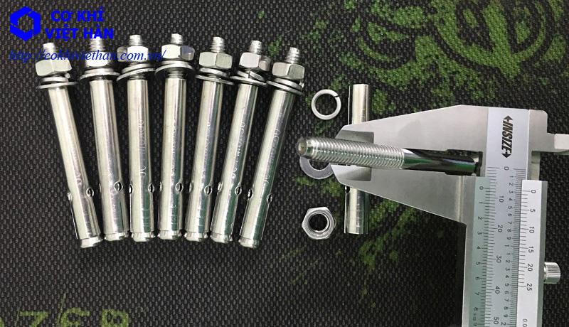 Bulong nở inox M8x80 - Tắc kê nở inox M8x80 - Stainless Steel Anchor Bolts M8x80