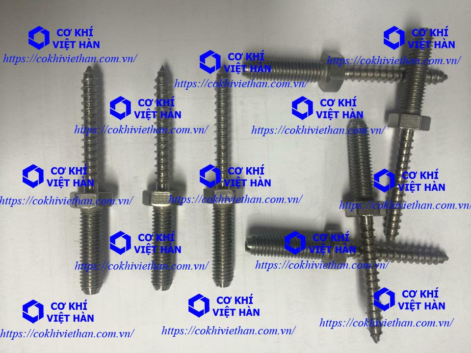 Vít gỗ lục giác thân bu lông inox 304